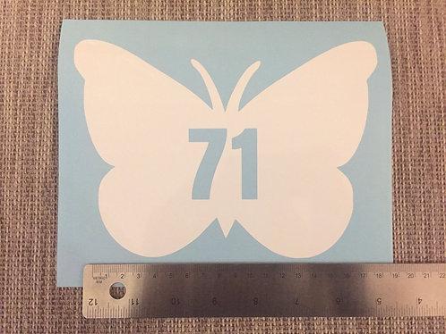 3 x Wheelie Bin Numbers - Butterfly Design