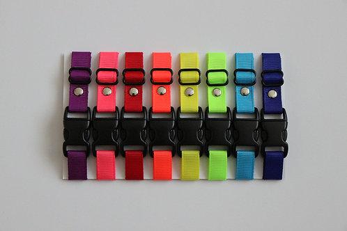 Set of 8 neon plain puppy id collars