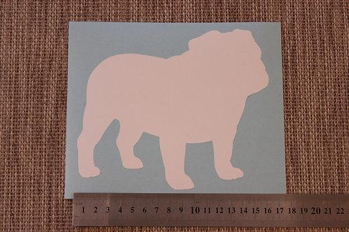 1 x English Bulldog Car Sticker