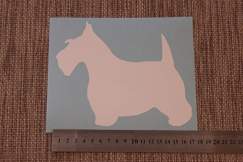 1 x Scottish Terrier Car Sticker