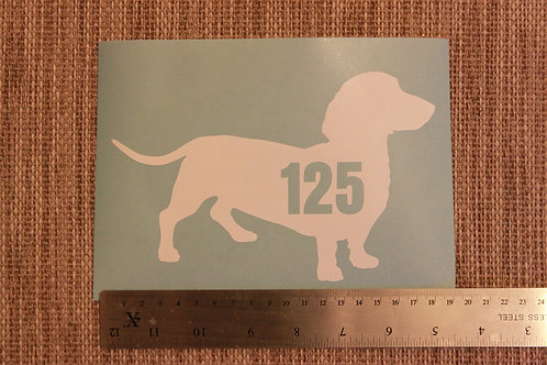 3 x Wheelie Bin Numbers - Dachshund Design