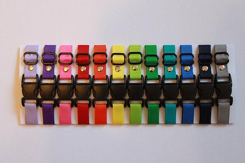 Set of 12 plain puppy id collars