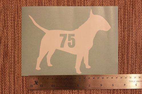 3 x Wheelie Bin Numbers - English Bull Terrier Design
