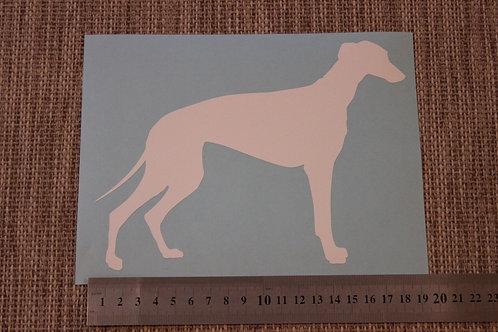 1 x Greyhound/Whippet Car Sticker