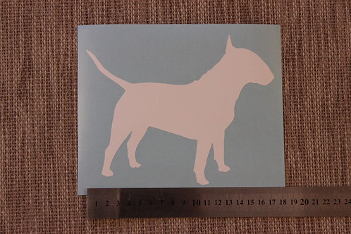 1 x English Bull Terrier Car Sticker
