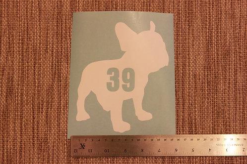 3 x Wheelie Bin Numbers - French Bulldog Design