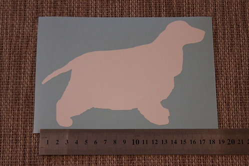 1 x English Cocker Spaniel Car Sticker