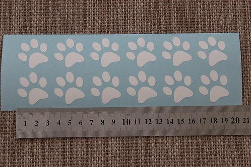 12 x Small/Mini Paw Prints Ipad Mini or Laptop Stickers