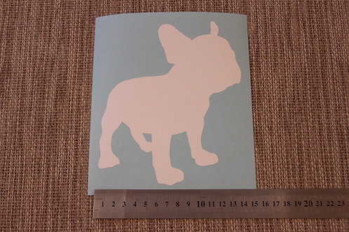 1 x French Bulldog Car Sticker