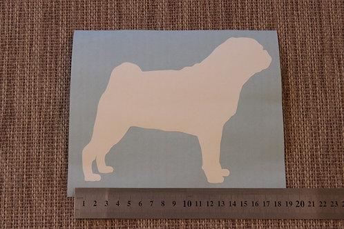 1 x Pug Car Sticker