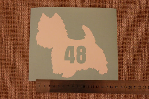 3 x Wheelie Bin Numbers - West Highland Terrier Design
