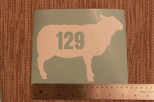 3 x Wheelie Bin Numbers - Sheep/Ewe Design