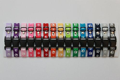 Set of 15 paw print puppy id collars