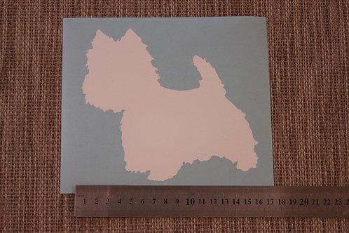1 x West Highland Terrier Car Sticker