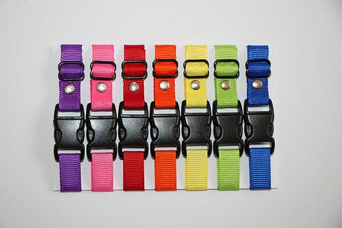 Set of 7 plain puppy id collars