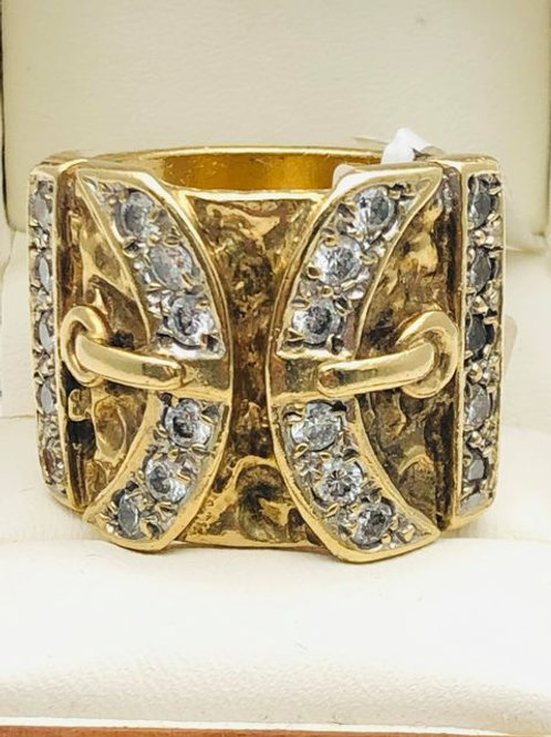9ct Buckle Ring
