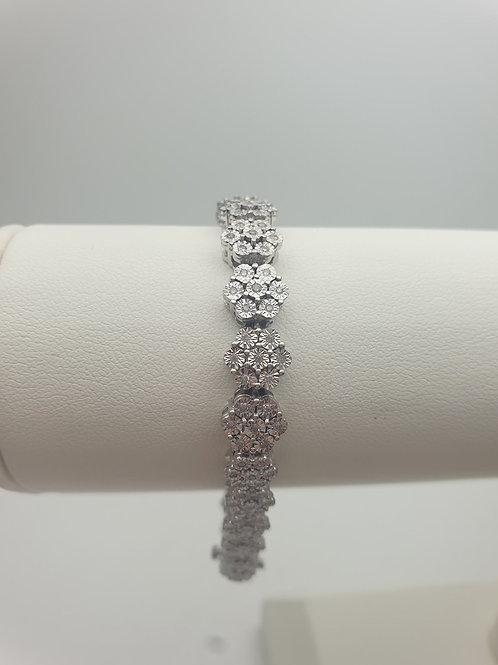 9ct Diamond Set Illusion Bracelet