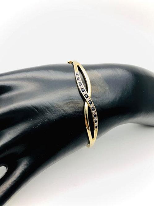 9ct Sapphire and Diamond Bangle