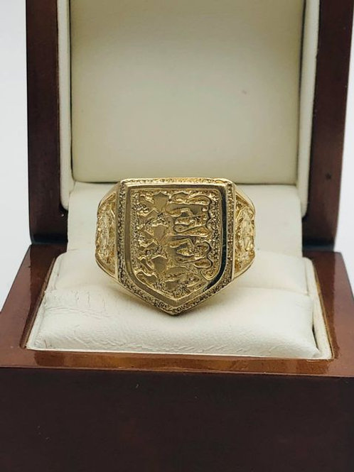 9ct 3 Lions Head Ring