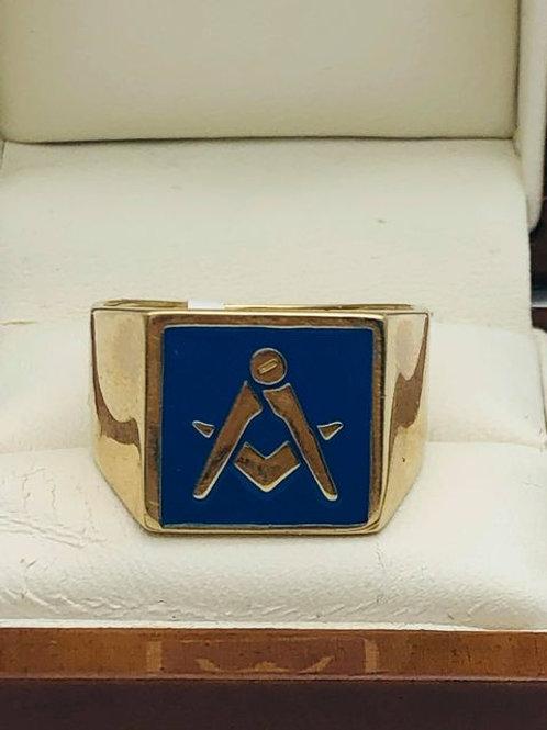 9ct Masonic Ring