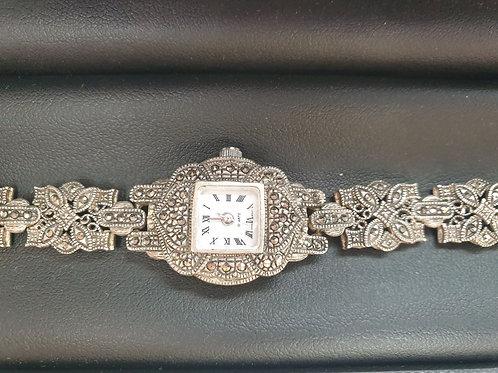 Women's Silver Marcasite Watch