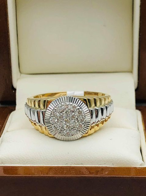 9ct Diamond Rolex Ring