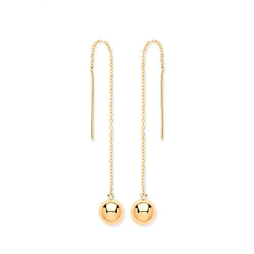 Yellow Gold Ball Chain Earrings
