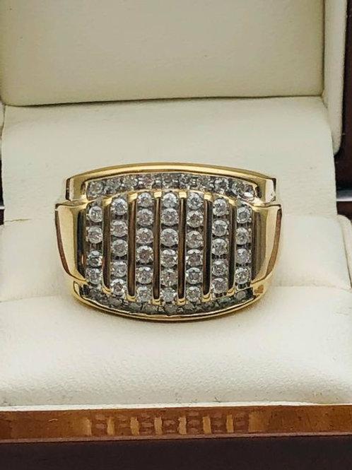 9ct Diamond Channel Set Ring