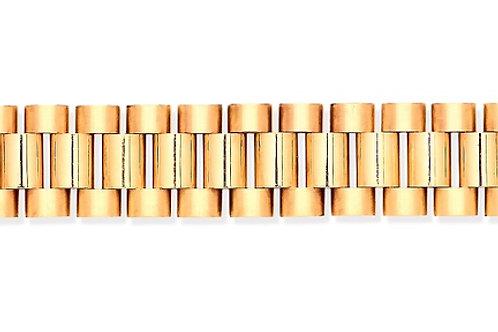 Yellow Gold Rolex Style Men's Bracelet