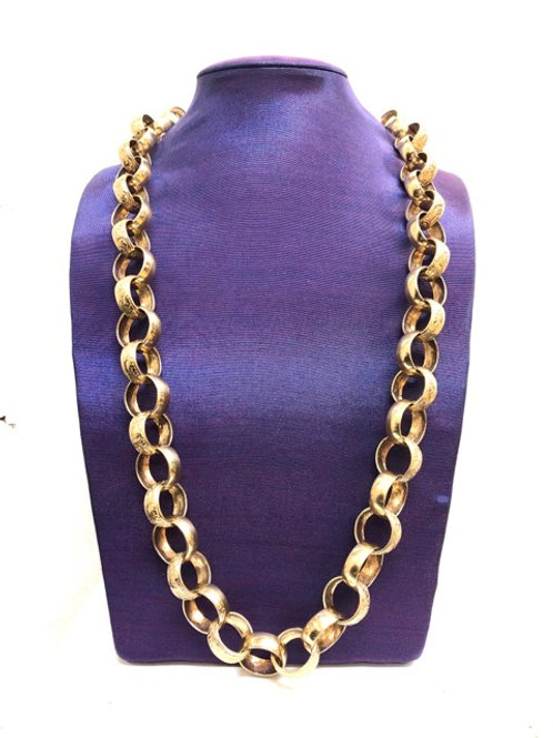 9ct Patterned Belcher Chain