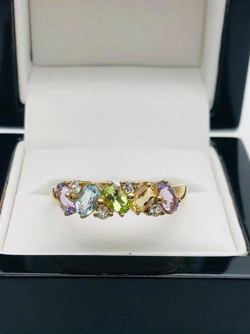 9ct Multi Stone Ring