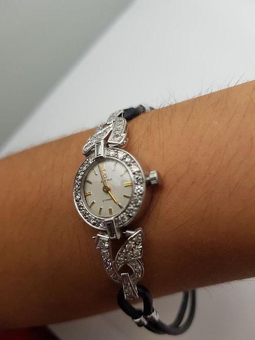 Platinum and Diamond Cocktail Watch