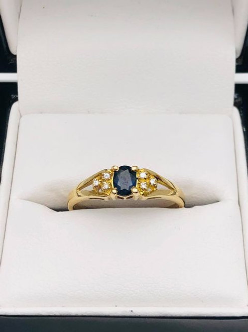 14ct Sapphire and Diamond Ring
