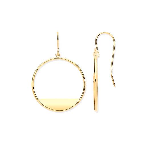 Yellow Gold Circle Earrings