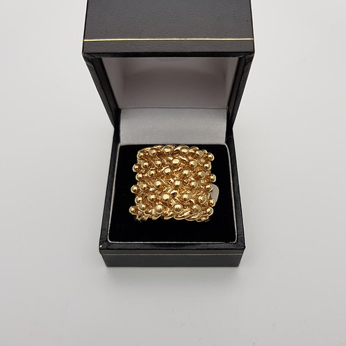 9ct Yellow Gold Keeper Ring