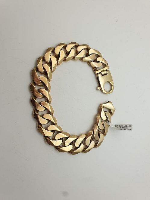 Heavy gold gents curb link bracelet