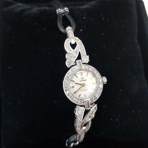 Platinum and Diamond Cocktail Watch