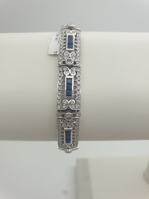 18ct Sapphire and Diamond Bracelet