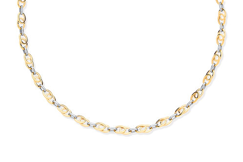 Yellow, White & Rose Gold Tear Drop Tubes Chain
