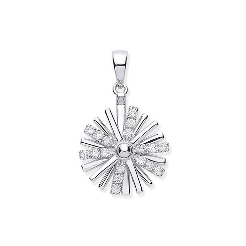 9ct White Gold Spinning Diamond Pendant