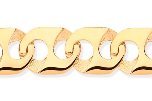 Yellow Gold Anchor Link Men's Bracelet
