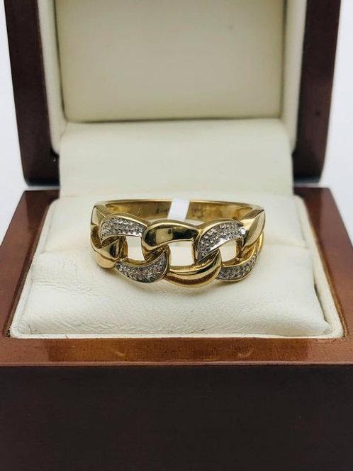 9ct Diamond Link Ring