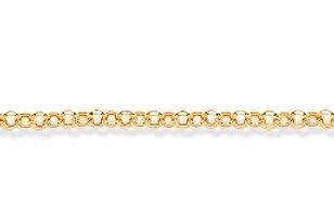 Yellow Gold Round Hollow Belcher Chain