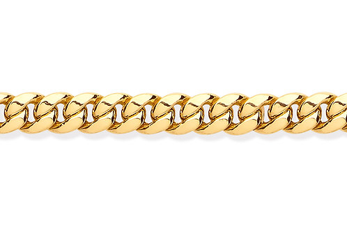 Yellow Gold Hollow Domed Curb Chain bracelet
