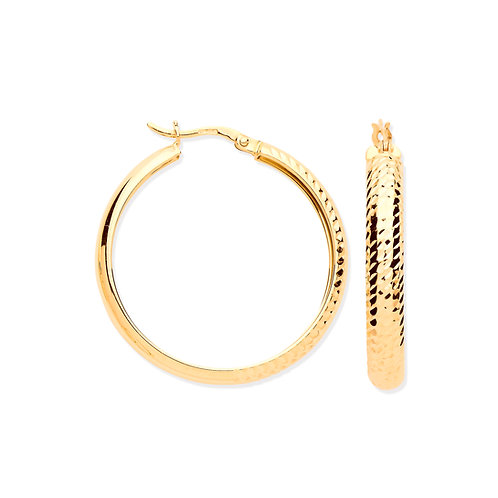 Yellow Gold Large Hoop Earrings