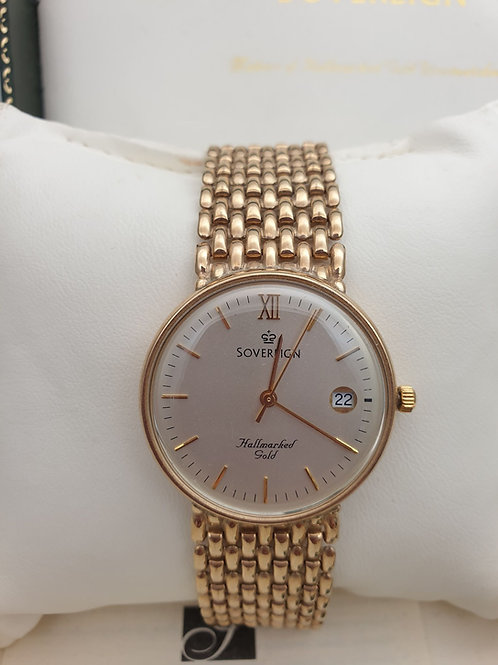 9ct Gold Sovereign Watch