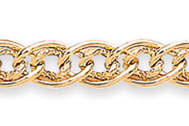 Hollow link yellow gold bracelet