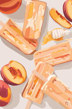 Peach Cobbler Popsicles
