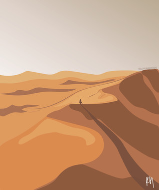 Escape into the desert