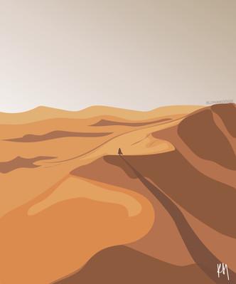 Escape into the desert